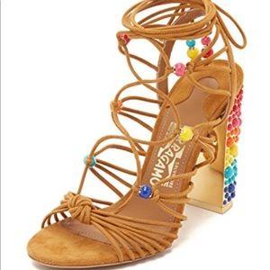 Slightly worn limited addition Ferragamo sandal